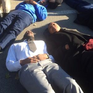 Jamal Bryant at die-in protest